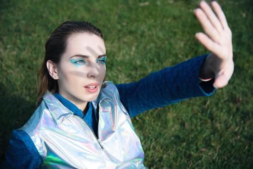 WeDú  x @pothosunderwear blue jumpsuit in  @Pap_Magazine