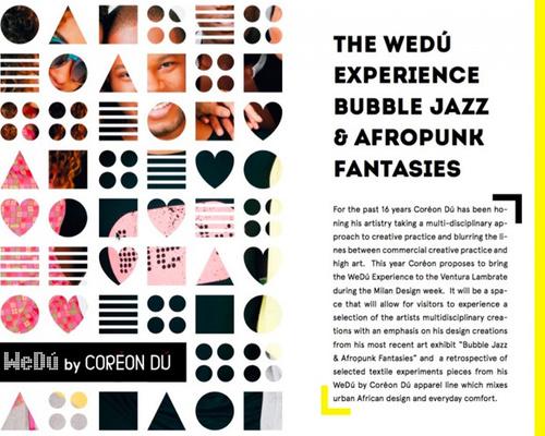 WeDú will be at this year's Milan Design Week