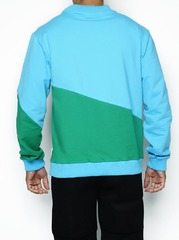 PullOver Azul/rosa/verde (Crochê)