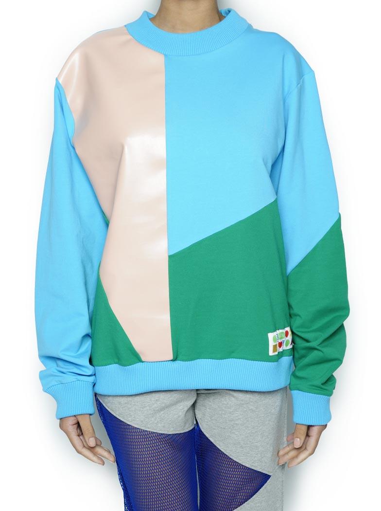 PullOver Azul/rosa/verde (Pano)