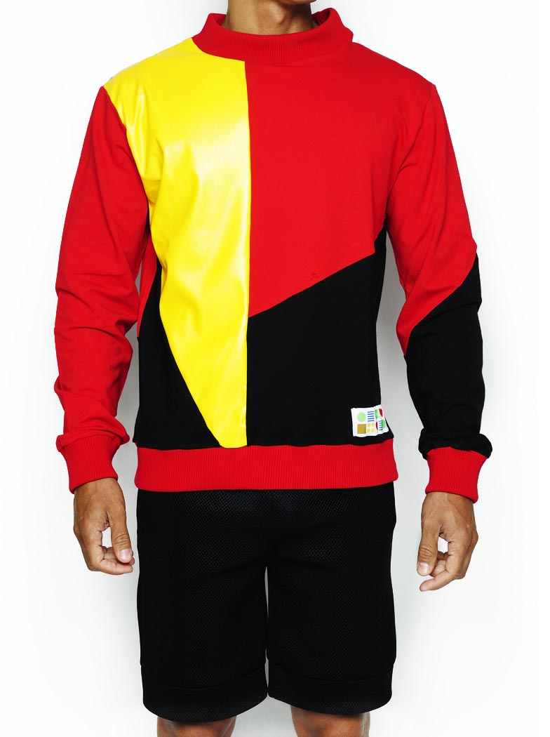 PullOver Vermelho/preto/amarelo (Pano)