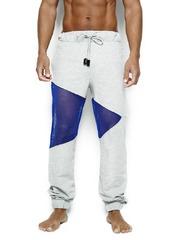 Calça Triangular Cinza e Azul