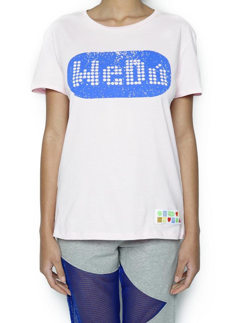 T-Shirt Wedú Logo Rosa