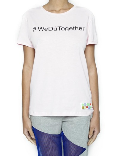 T-Shirt #WedúTogether Rosa